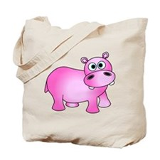 Cute Pink Baby Hippo Tote Bag