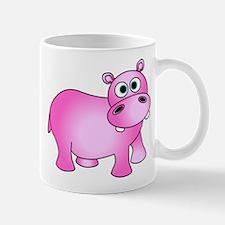 Cute Pink Baby Hippo Mugs