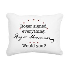 ShermanShirtFront Rectangular Canvas Pillow