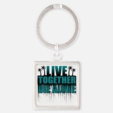 live-together-island-tl-sh Square Keychain