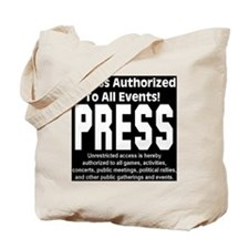 press_black Tote Bag