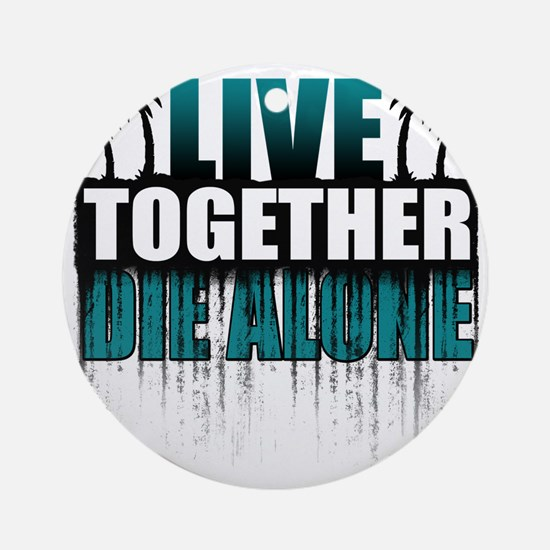 live-together-island-tl-hl- Round Ornament