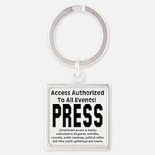 press_pass Square Keychain
