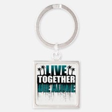 live-together-island-tl-hl- Square Keychain