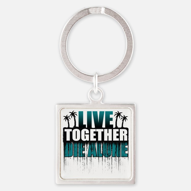 live-together-island-tl-hl- Square Keychain