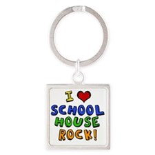 schoolhouserock Square Keychain