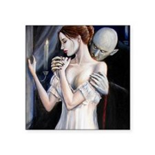 """visitation fin bust cropped Square Sticker 3"""" x 3"""""""