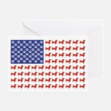 DOXIE-FLAG-Tee Greeting Card