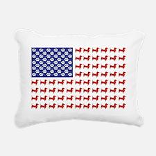 DOXIE-FLAG-Tee Rectangular Canvas Pillow