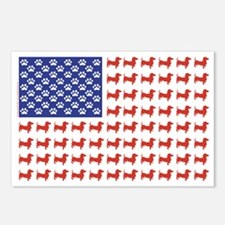 DOXIE-FLAG-Tee Postcards (Package of 8)