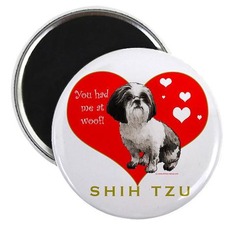 "Shih Tzu Valentine China 2.25"" Magnet (10 pack)"