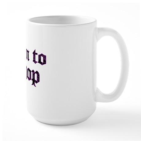 Born to shop Large Mug