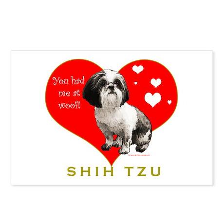 Shih Tzu Valentine China Postcards (Package of 8)