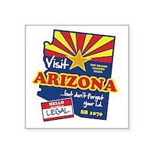 "visit_arizona Square Sticker 3"" x 3"""