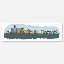 Detroit Skyline - Color Bumper Bumper Sticker