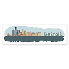 Detroit Skyline - Color Bumper Sticker