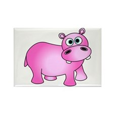 Cute Pink Baby Hippo Magnets