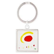espana(blk) Square Keychain