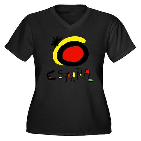 espana Women's Plus Size Dark V-Neck T-Shirt