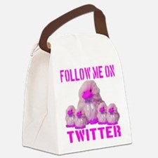 followmeon_twitter_pink_transpare Canvas Lunch Bag