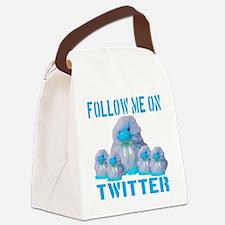 followmeon_twitter_skyblue_transp Canvas Lunch Bag