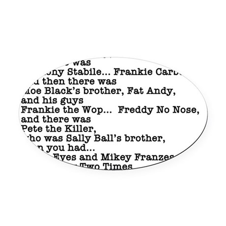 Quote Oval Car Magnet