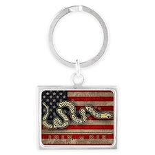 flag1-snake-die-BUT Landscape Keychain