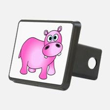 Cute Pink Baby Hippo Hitch Cover