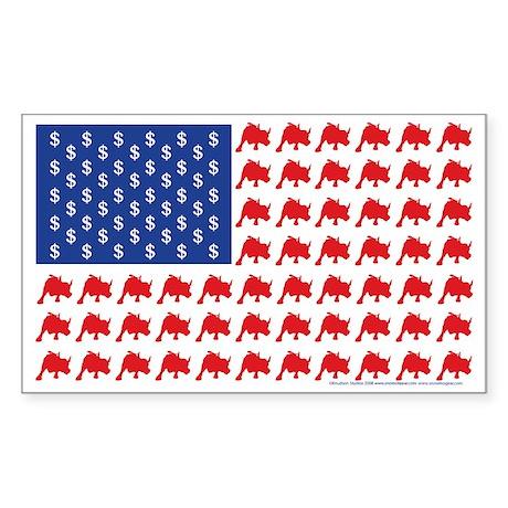 Bull-Flag Sticker (Rectangle)
