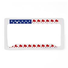 Bull-Flag License Plate Holder