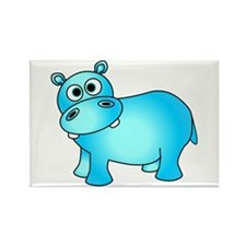 Cute Pink Baby Hippo Rectangle Magnet