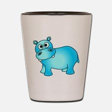 Cute Pink Baby Hippo Shot Glass