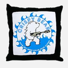 crispy_bear_blue Throw Pillow