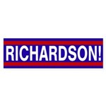 Richardson! (pro-Richardson bumper sticker)