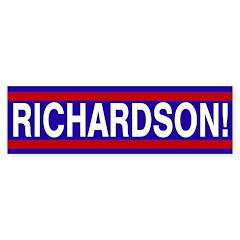 Richardson! (pro-Richardson bumper sticker)