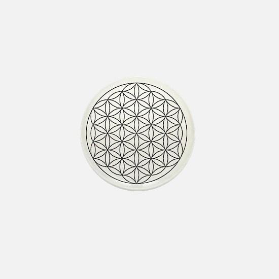 Flower-of-Life-white Mini Button