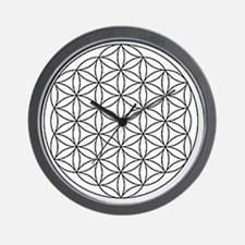 Flower-of-Life-white Wall Clock
