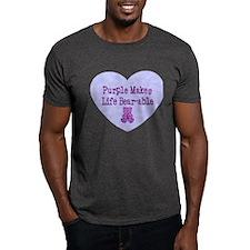 Purple Makes Life Bear-able T-Shirt