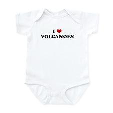 I Love VOLCANOES Infant Bodysuit
