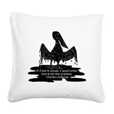 oiledpelican Square Canvas Pillow