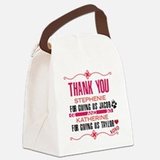 Thank you Stephanie and Katherine Canvas Lunch Bag