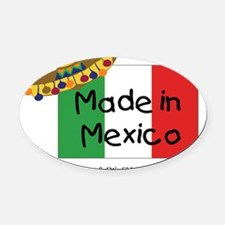 2-made-in-mexico Oval Car Magnet