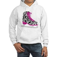 Zebra Pink and Black Ice Skate Hoodie