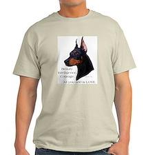 Dobe-Add Love Ash Grey T-Shirt