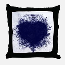Blue Abstract-Design #2 Throw Pillow