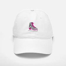 Zebra Pink and Black Ice Skate Baseball Baseball Baseball Cap