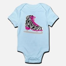 Zebra Pink and Black Ice Skate Body Suit