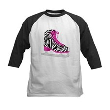 Zebra Pink and Black Ice Skate Baseball Jersey