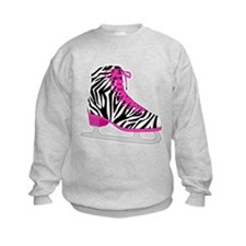Zebra Pink and Black Ice Skate Sweatshirt