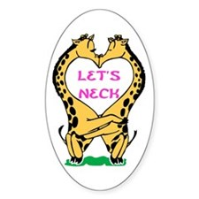 Let's Neck Oval Decal